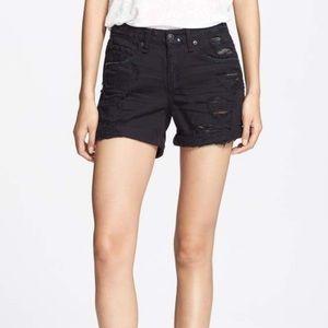 rag & bone black denim shorts